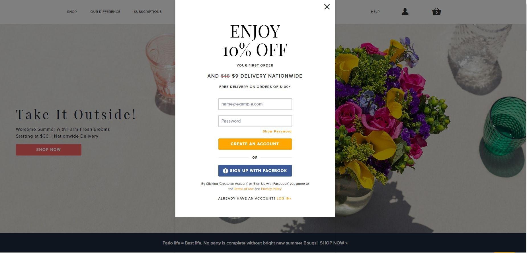 Bouqs-homepage